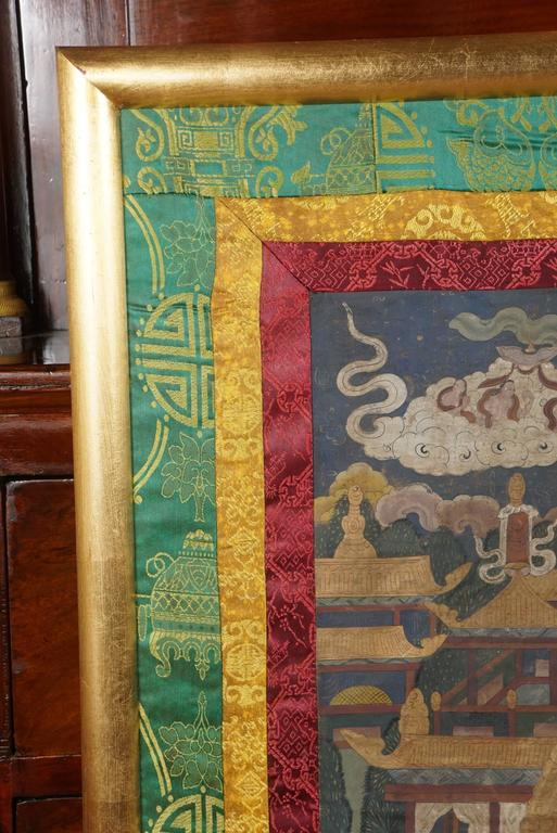 Gilt Early 20th Century Tibetan Thangka For Sale
