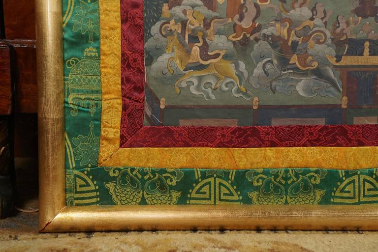 Early 20th Century Tibetan Thangka In Good Condition For Sale In Hudson, NY