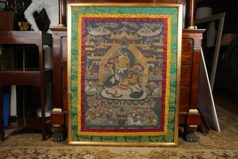 Silk Early 20th Century Tibetan Thangka For Sale