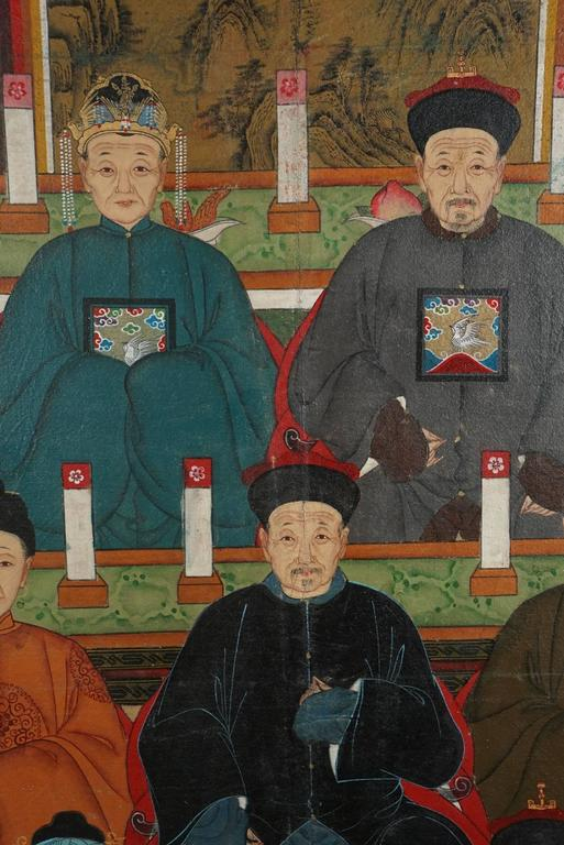 Chinese Republic Period Ancestral Portrait In Good Condition For Sale In Hudson, NY
