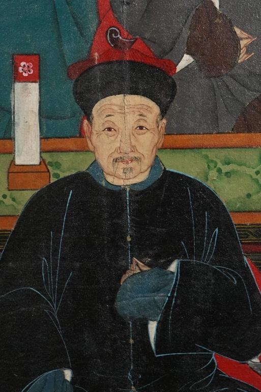 20th Century Chinese Republic Period Ancestral Portrait For Sale