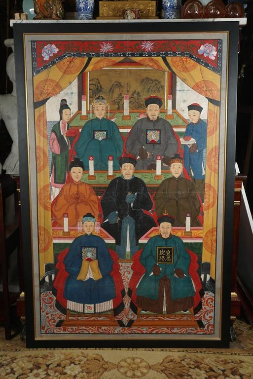 Chinese Republic Period Ancestral Portrait For Sale 1