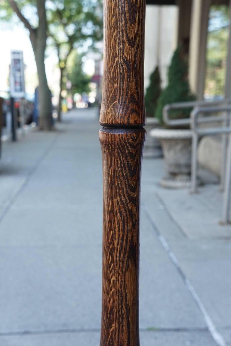 Pair of Modernist Turned Wood Floor Lamps 3