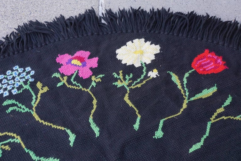 Vintage Hooked Yarn Rug from the Estate of Bunny Mellon 2