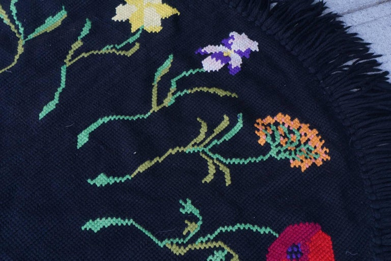 Vintage Hooked Yarn Rug from the Estate of Bunny Mellon 3