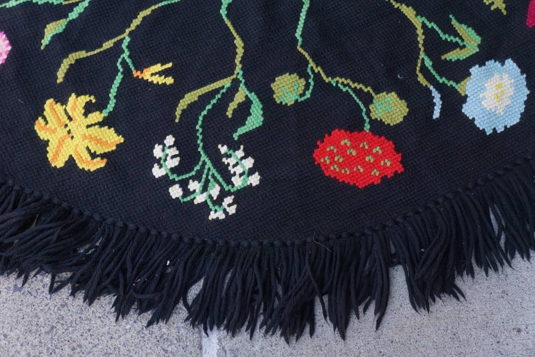Vintage Hooked Yarn Rug from the Estate of Bunny Mellon 4