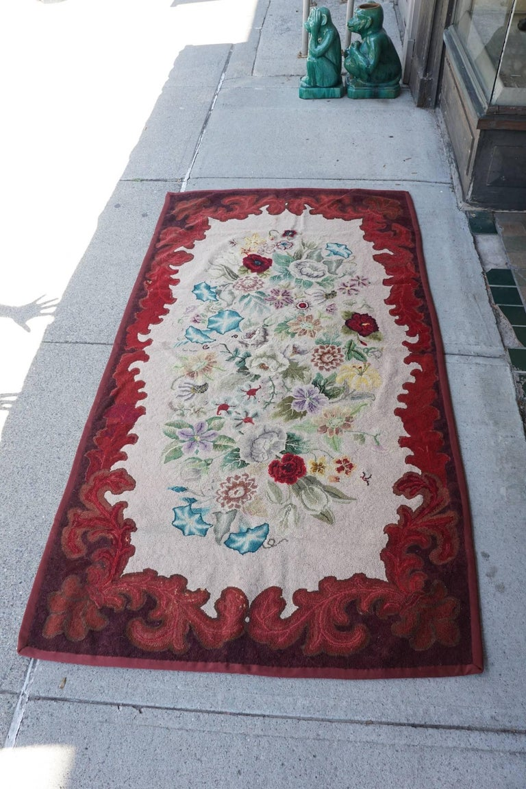 Late 19th Century American Hooked Rug from the Estate of Bunny Mellon In Good Condition For Sale In Hudson, NY