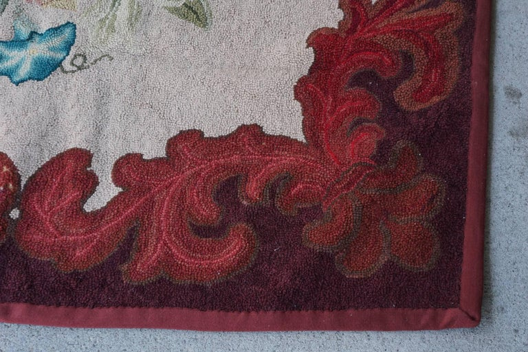 Late 19th Century American Hooked Rug from the Estate of Bunny Mellon For Sale 2