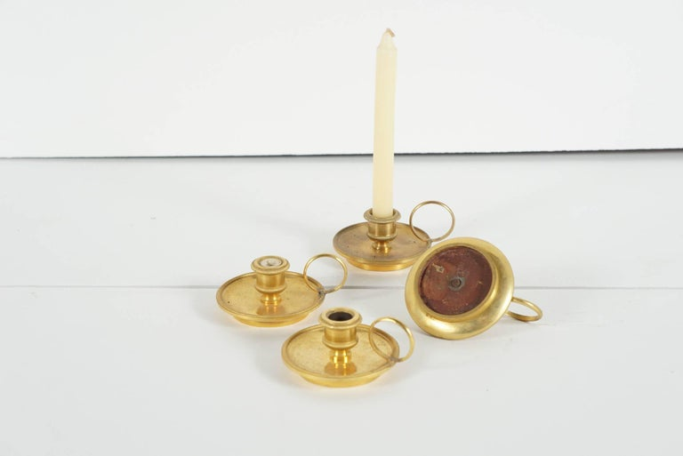 Four French Gilded Bronze Chamber Candlesticks from the Estate of Bunny Mellon 2