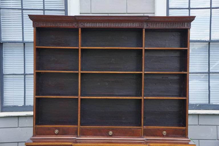 Period George Iii Mahogany Small Open Bookcase