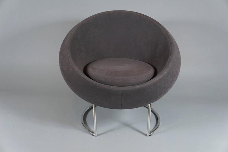 Mid-Century Modern Saucer Chair, circa 1980 For Sale