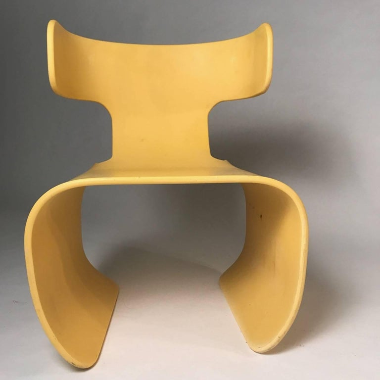 Chair of Yellow Resin, Prototype, circa 1980 2