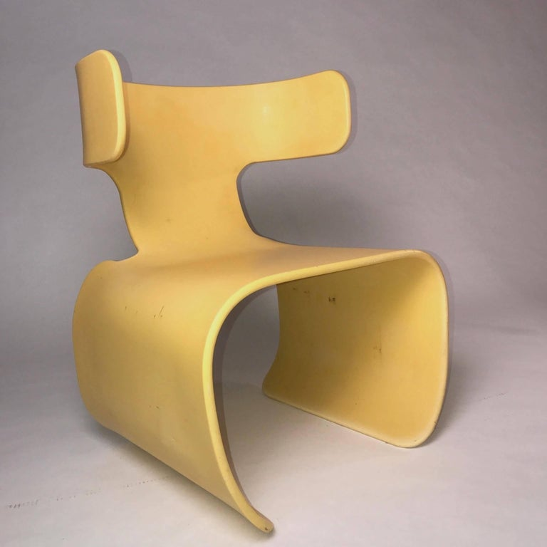 Chair of Yellow Resin, Prototype, circa 1980 5