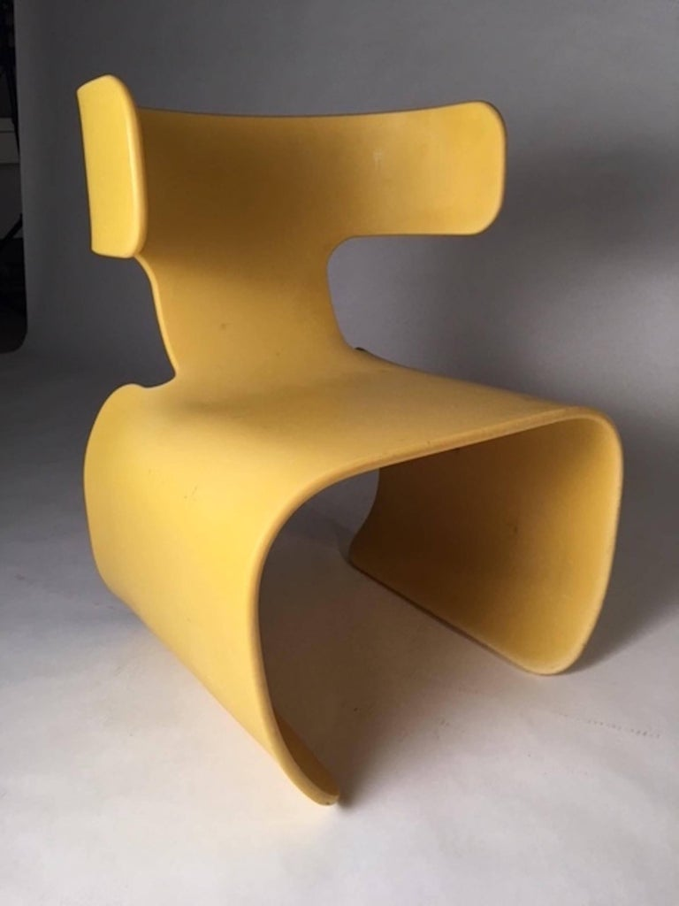 Chair of Yellow Resin, Prototype, circa 1980 7