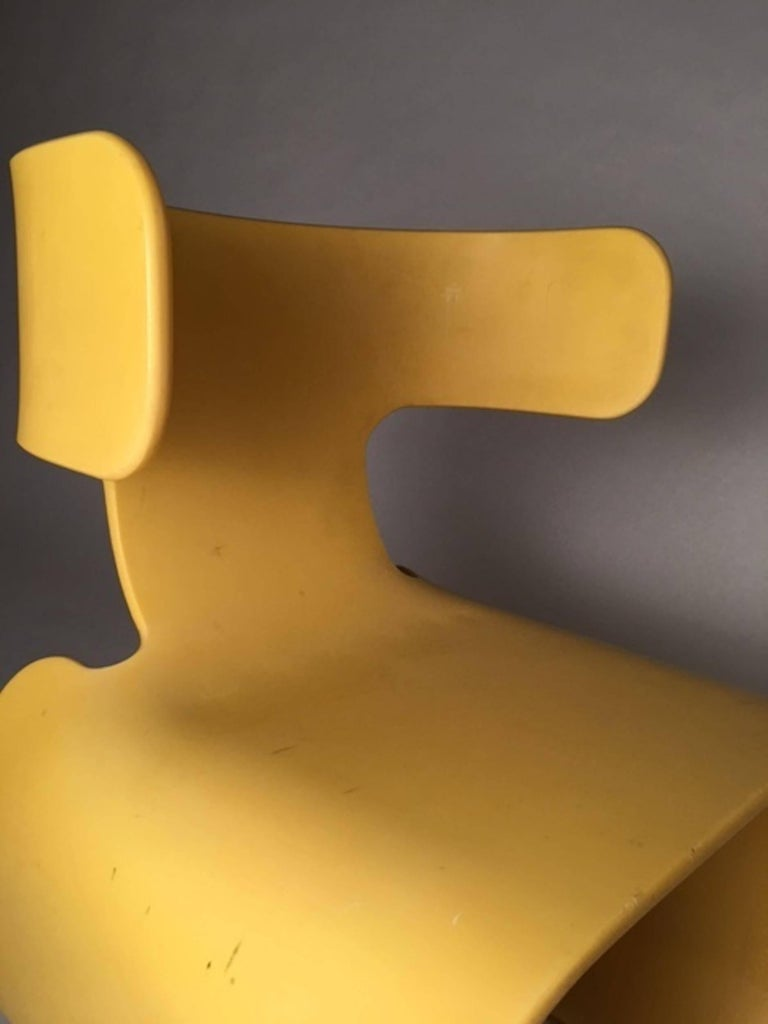 Chair of Yellow Resin, Prototype, circa 1980 8