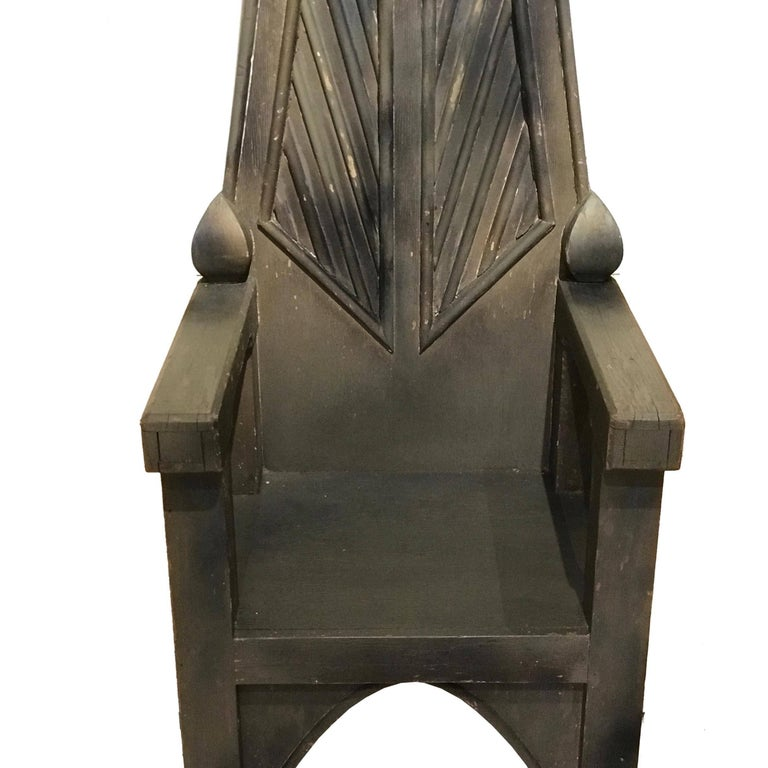 American Primitive Throne Chair 4