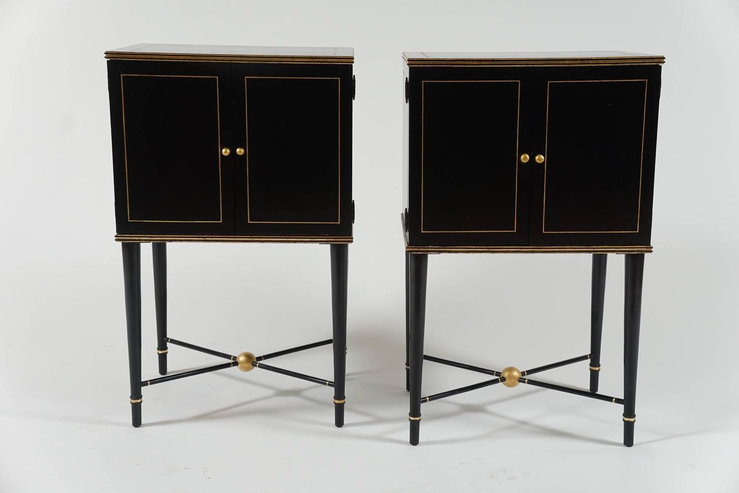 hutch kitchen furniture stylish quot deco quot cabinets with gilt detail at 1stdibs 12534