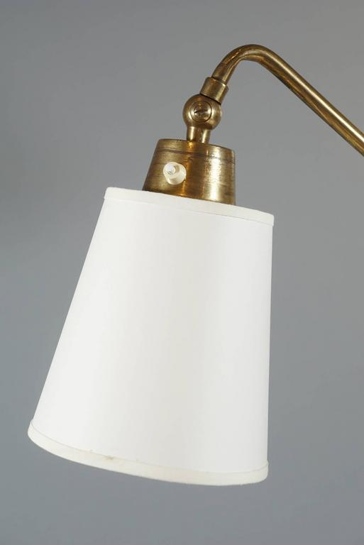 Three-Armed Brass and Bone Lamp 4