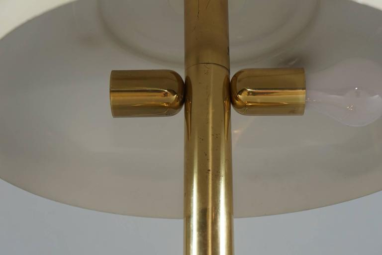 Brass Hildebrand Lamp with Cream Shade 5