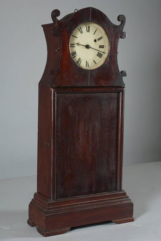 Unusual American Scroll Front Mantle Clock, circa 1840 2