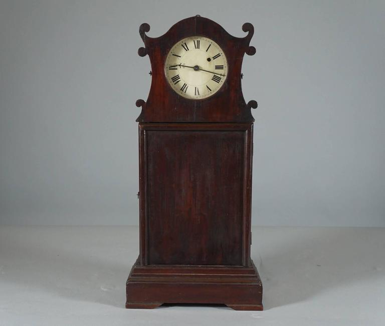 Unusual american scroll front mantle clock circa 1840 for Unique clocks for sale