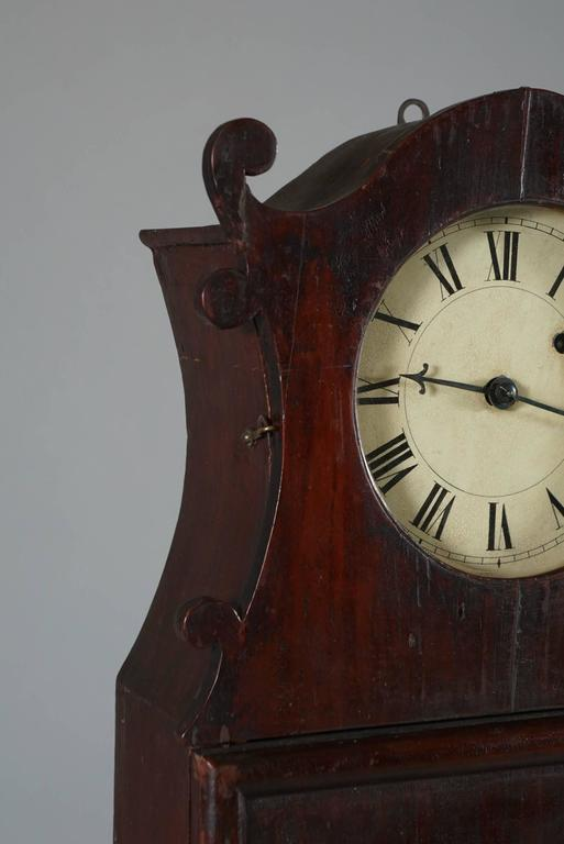 Unusual American Scroll Front Mantle Clock, circa 1840 4