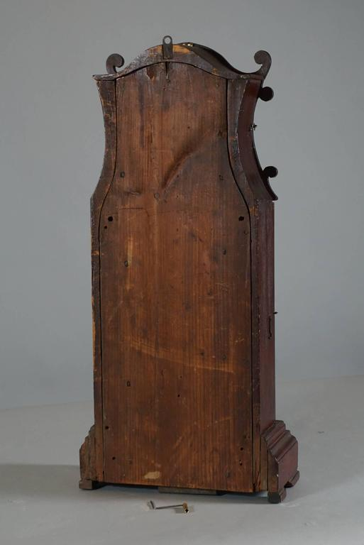 Unusual American Scroll Front Mantle Clock, circa 1840 5
