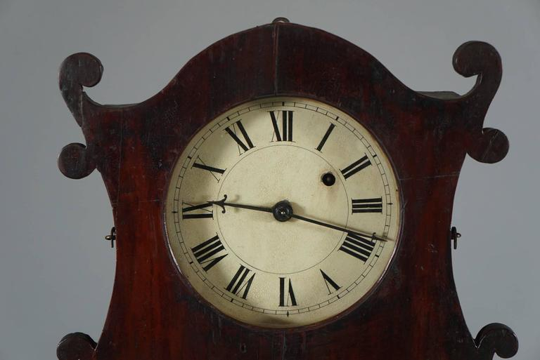 Unusual American Scroll Front Mantle Clock, circa 1840 6