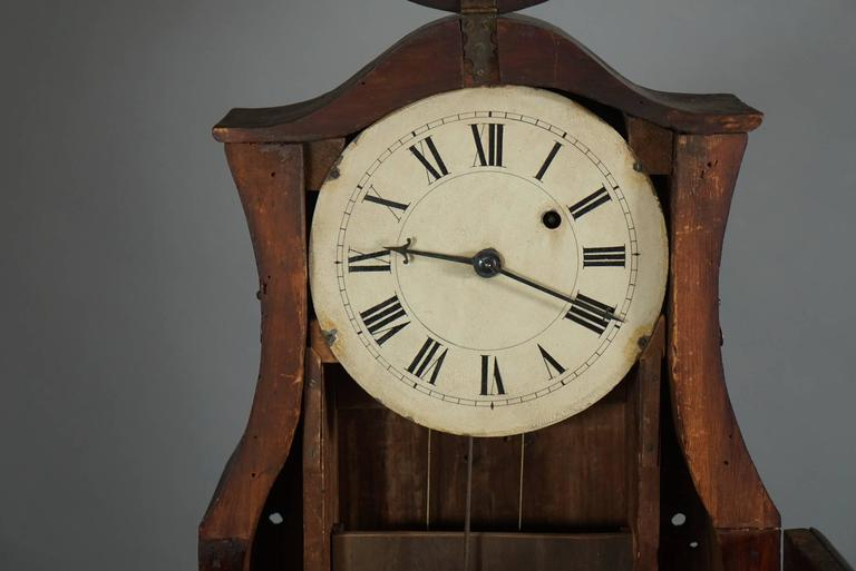 Unusual American Scroll Front Mantle Clock, circa 1840 7