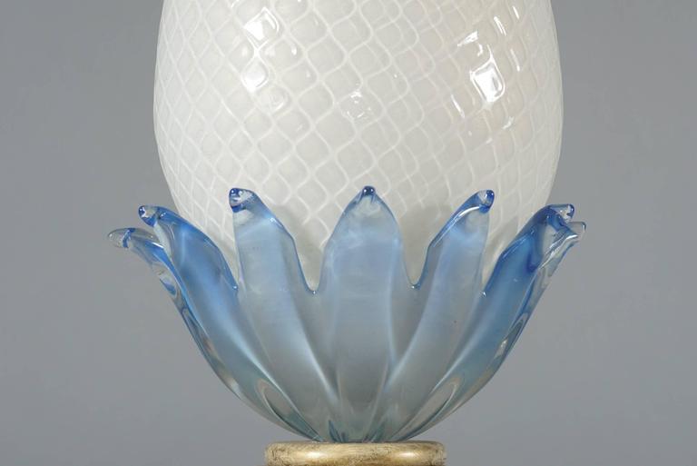 Pair of Murano Glass Pineapple Lamps 6