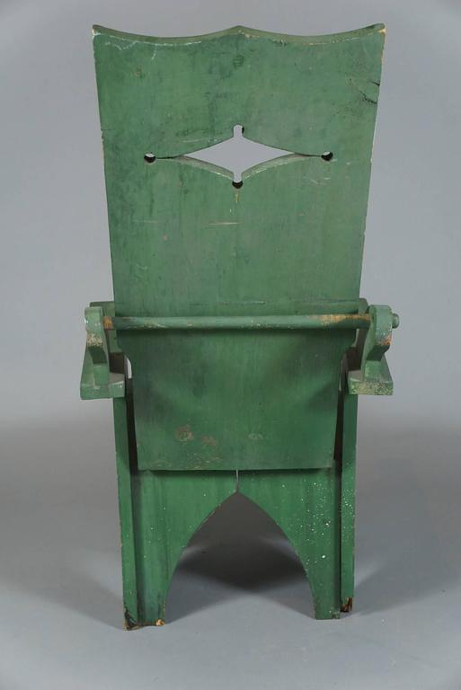 Mid-20th Century Adjustable Adirondack Chair in Green For Sale