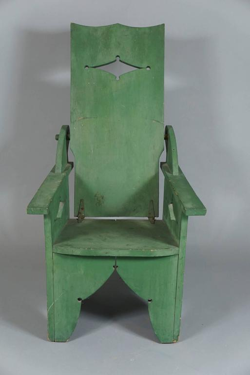 Adjustable Adirondack Chair in Green For Sale 1