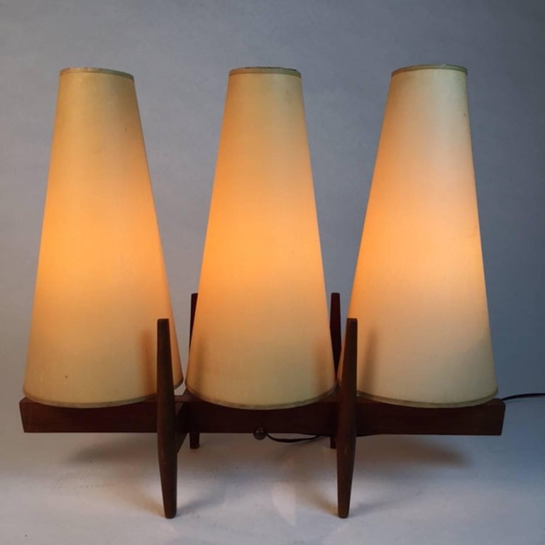 Unique three shade danish modern table lamp for sale at for Cool table lamps modern