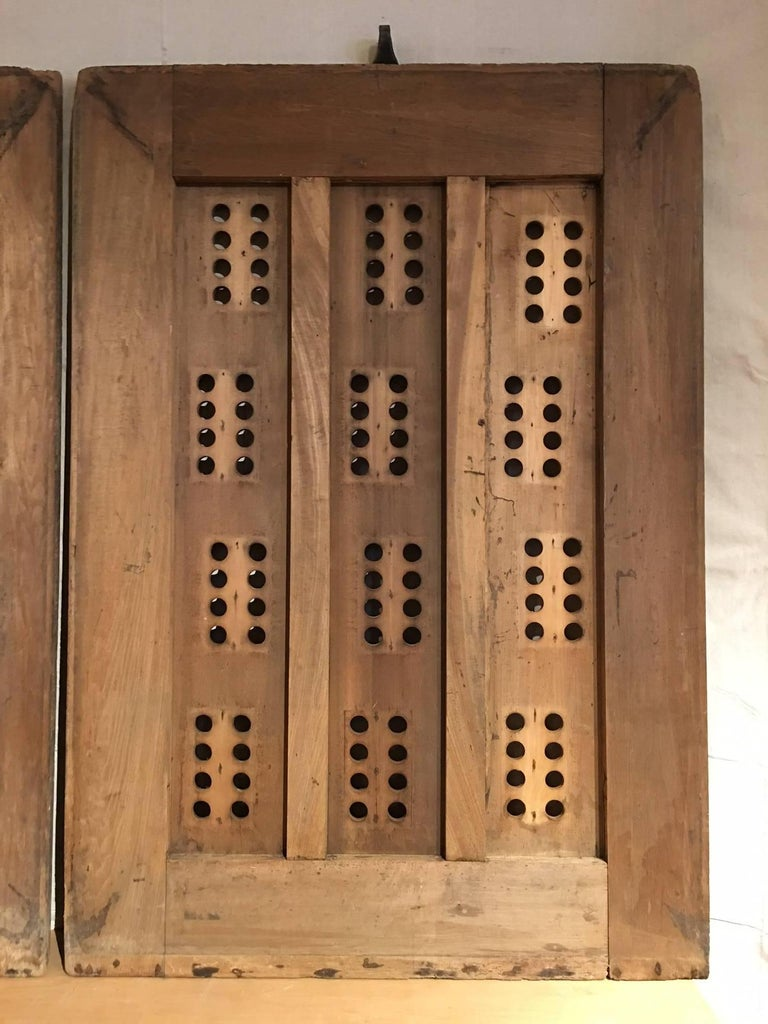 Pair of Bold Graphic Wooden Doors 3