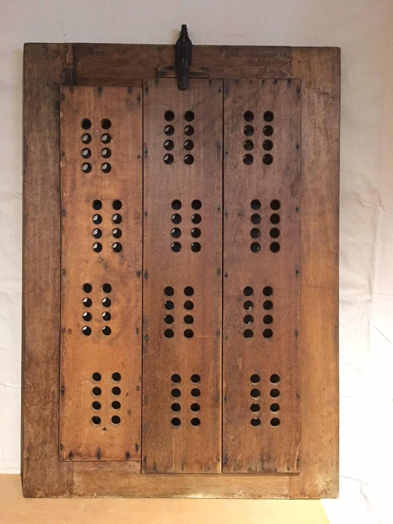 Pair of Bold Graphic Wooden Doors 4