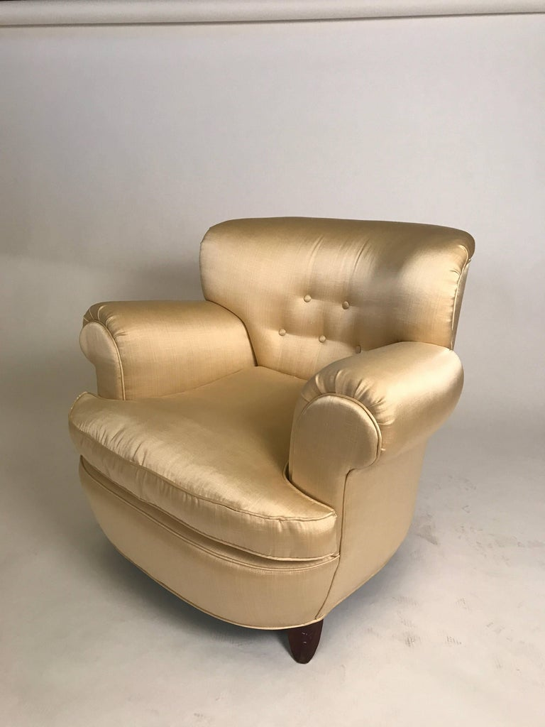 Classic Art Deco Club Chairs In Excellent Condition For Sale In Hudson, NY