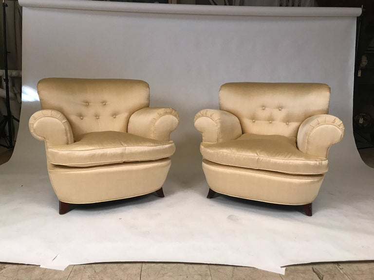 Classic Art Deco Club Chairs For Sale 2