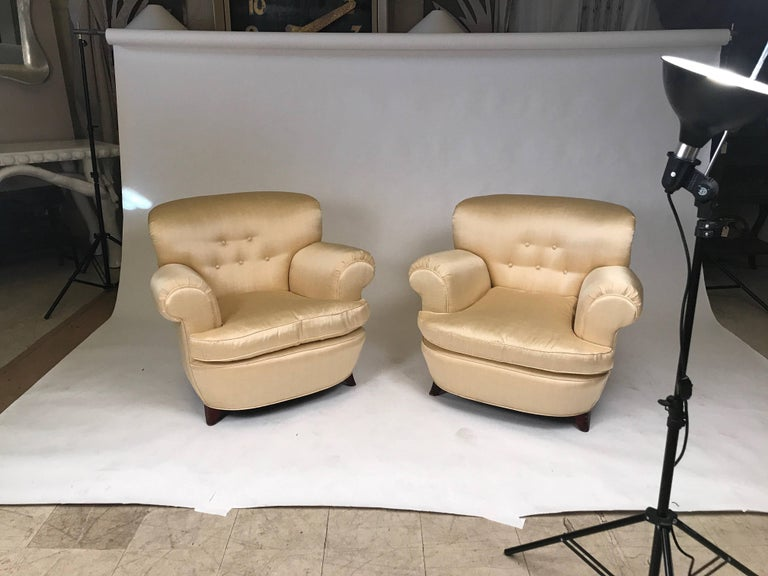 Classic Art Deco Club Chairs For Sale 1