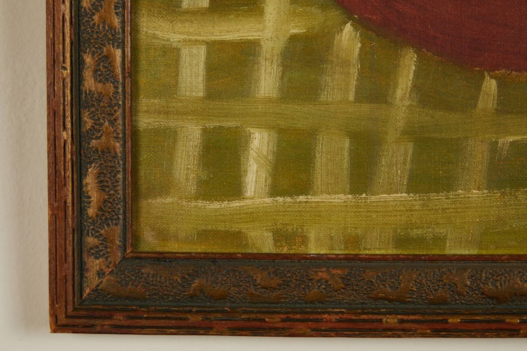 Folk Art Still Life Oil on Board In Good Condition For Sale In Los Angeles, CA