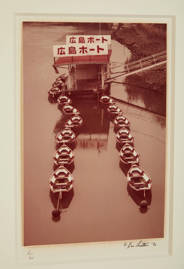Eric Lawton 1976 Photograph of Japanese Boats For Sale 1