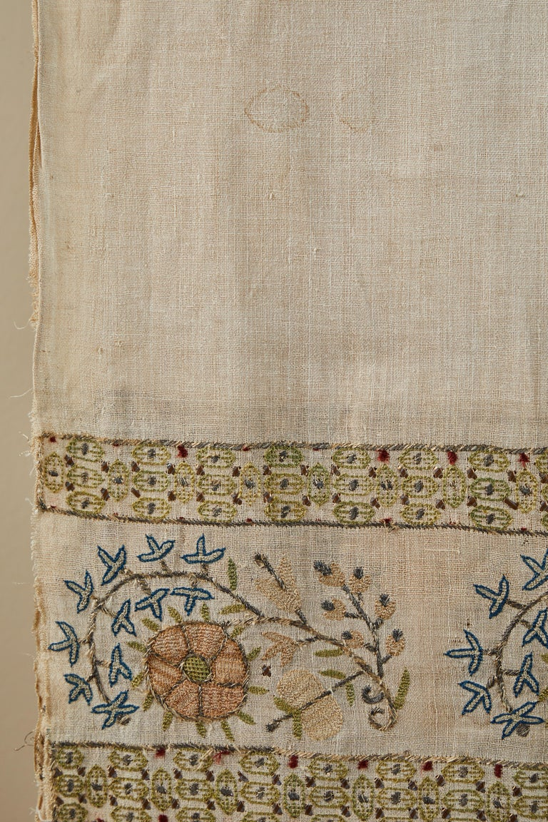 Embroidered Large 19th Century Ottoman Turkish Towel For Sale