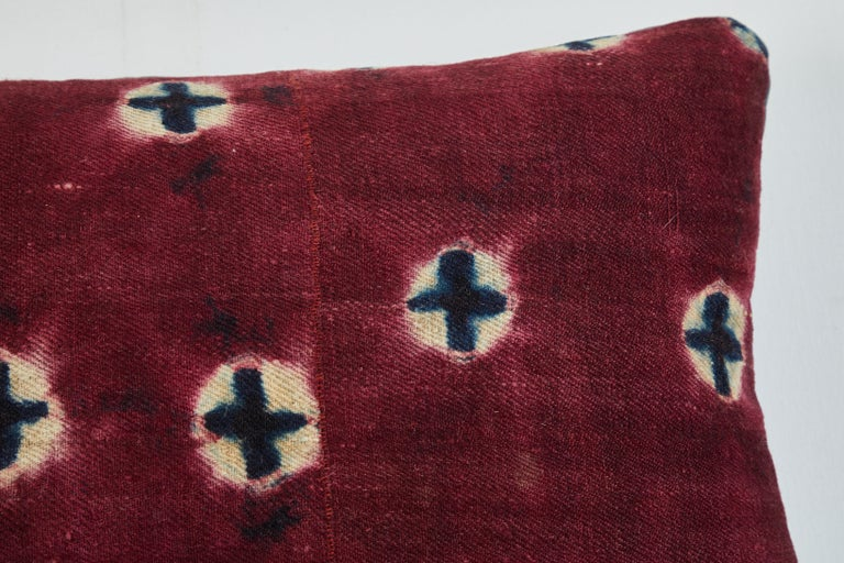 Hand-Woven Antique Tibetan Yak Wool Pillow For Sale