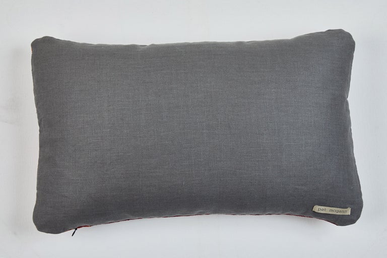 Hand-Woven Antique Tibetian Yak Wool Pillow For Sale