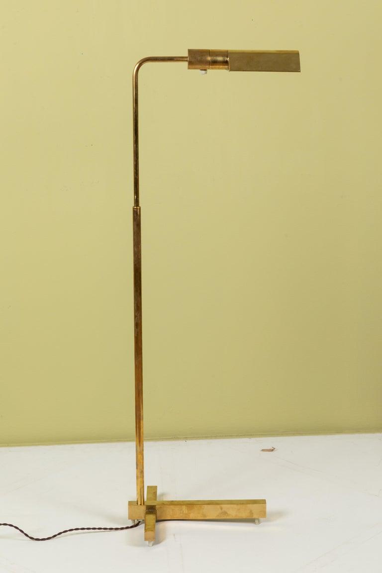 Mid-Century Modern Midcentury Casella Brass Task Lamp For Sale