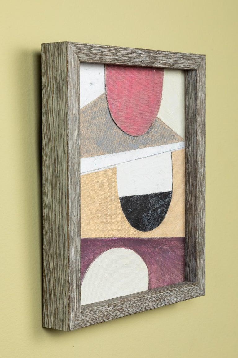 Vintage British ephemera and fabric artwork. Custom contemporary frame.