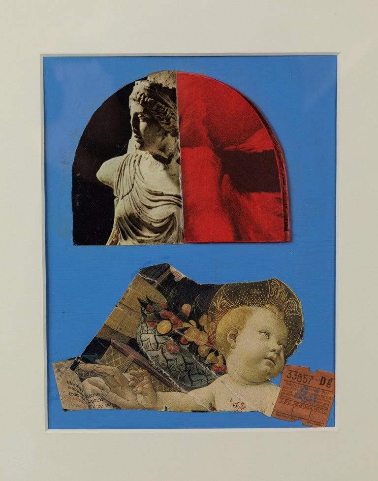 Vintage British ephemera artwork. Custom contemporary matting and frame.