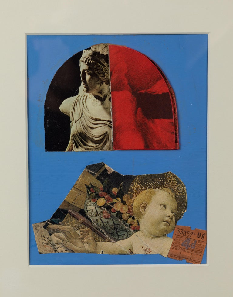 20th Century English Mixed-Media Collage For Sale