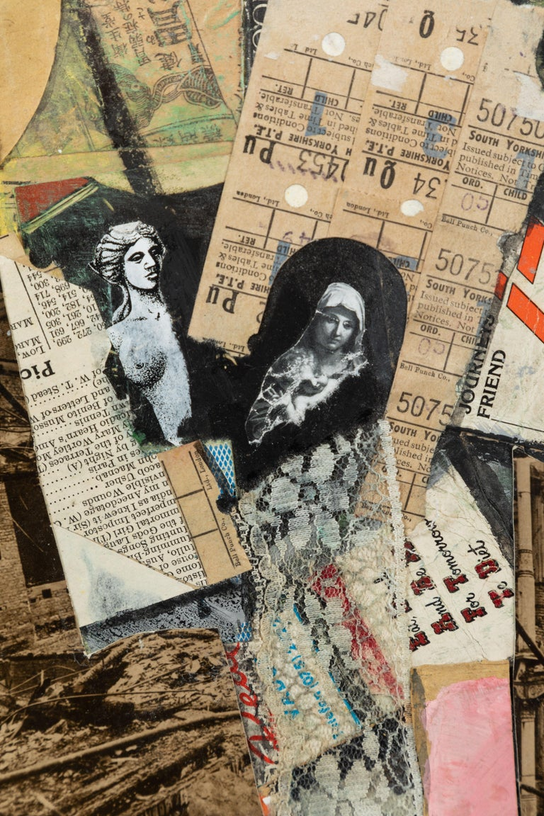English Mixed-Media Collage In Good Condition For Sale In Los Angeles, CA