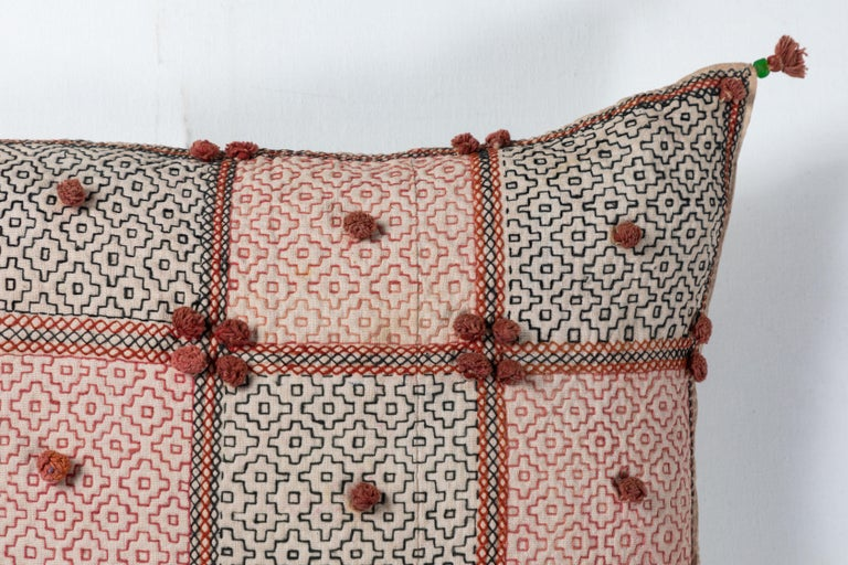 Pakistani Swat Valley Embroidery Pillow For Sale