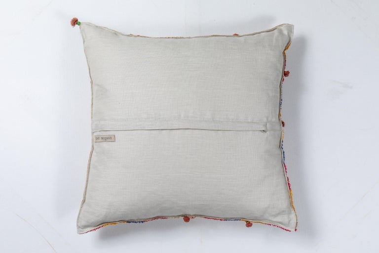 Embroidered Swat Valley Embroidery Pillow For Sale